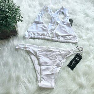 New with Tags Tavik + White Bikini - Size M